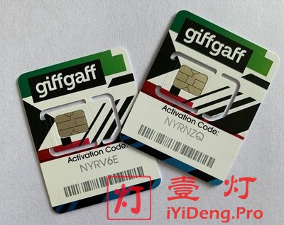 英国Giffgaff电话卡